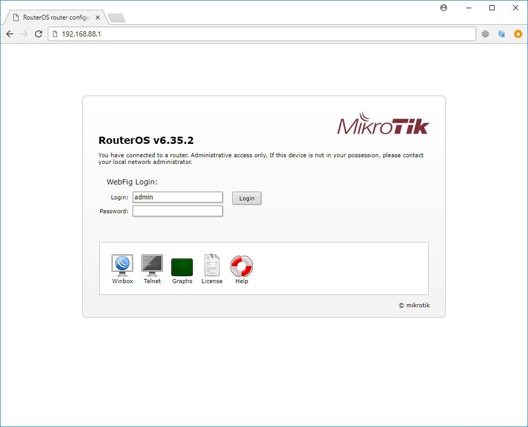 اتصال به روتر میکروتیک از طریق رابط تحت وب WebFig